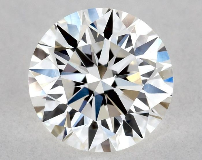 1 pcs Diamond - 0.50 ct - Brilliant, Round - E, 3x EX - VVS2, Low Reserve Price + Free Shipping
