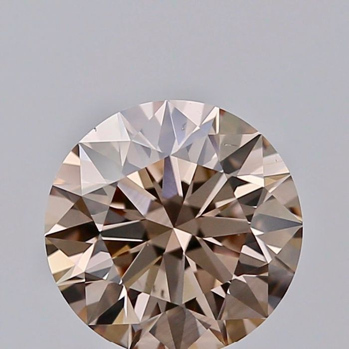 1 pcs Diamond - 1.05 ct - Brilliant - light brown - VS2