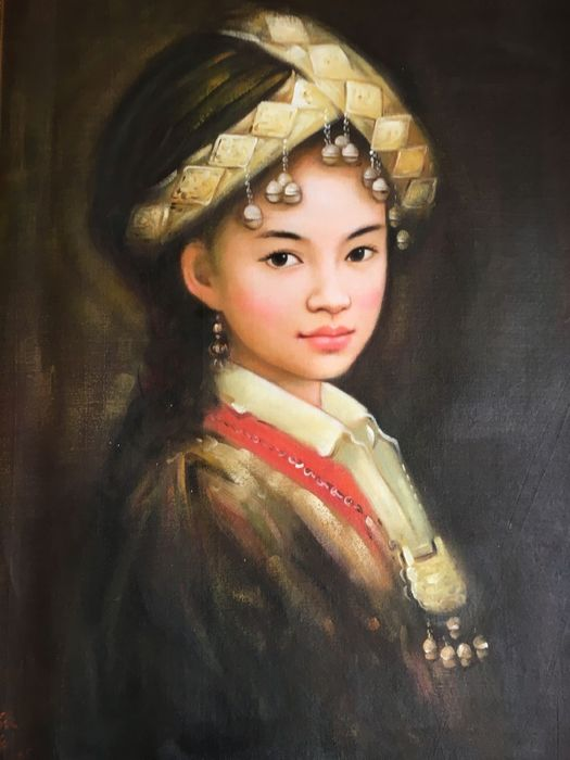 Oil painting (1) - Canvas - China - Late 20th century