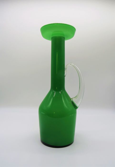 Vase, Amphora Jar (31 cm) (1) - Green Glass