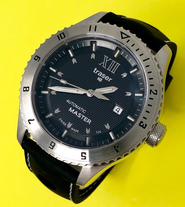 "Traser - T5 Automatic Master Watch with Rubber Strap Swiss Made - 100262 ""NO RESERVE PRICE"" - Uomo - Brand New"