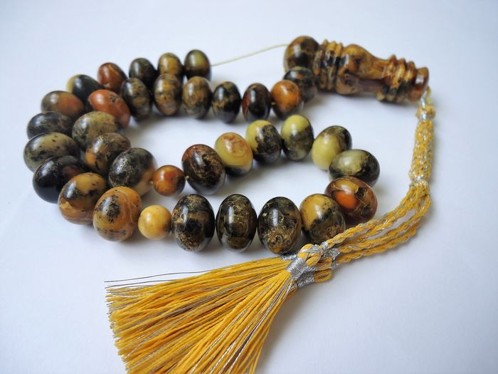 Marble Baltic amber - islamic prayer beads