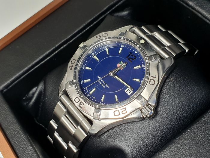 TAG Heuer - Aquaracer blue dial + free leather strap  - Men - 2000-2010