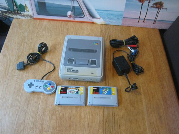 1 Nintendo Super nes - console plus mario all stars and Super