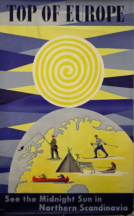 Bengt Lundstrom/ Ab Anders Beckman - Top of Europe, See the Midnight sun in northern Scandinavia - Δεκαετία του 1950