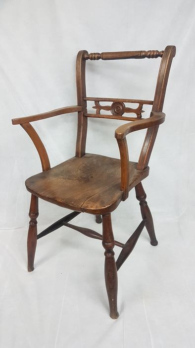 French antique oak chair