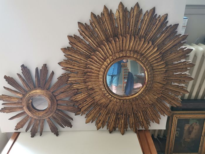 Couple of vintage sun mirrors 'witch's eye'