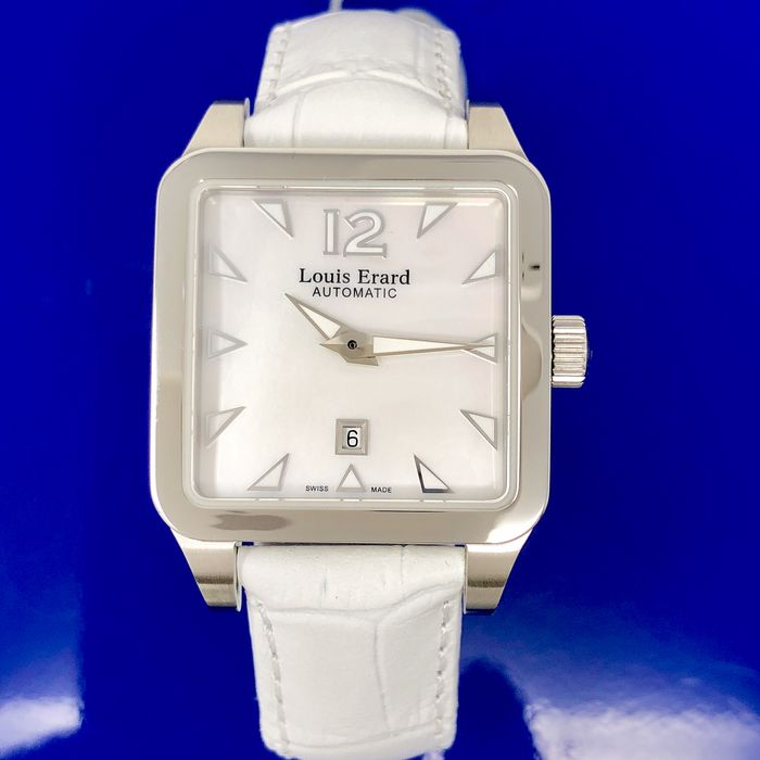 Louis Erard - Automatic Watch Emotion Collection White Dial Leather Strap Swiss Made - 20700AA01.BDC61 - Damen - BRAND NEW