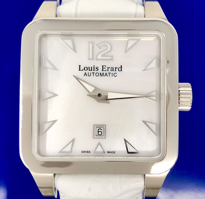 "Louis Erard - Automatic Watch Emotion Collection White ""NO RESERVE PRICE"" - 20700AA04 - Damen - BRAND NEW"