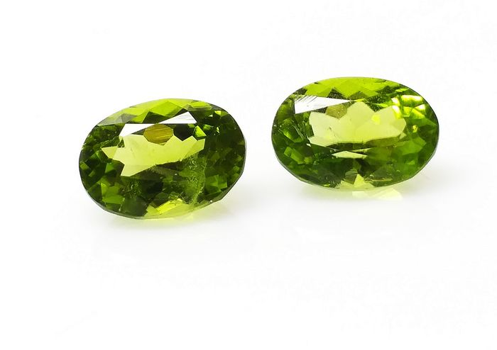 Green Peridot Pair - 8.27 ct