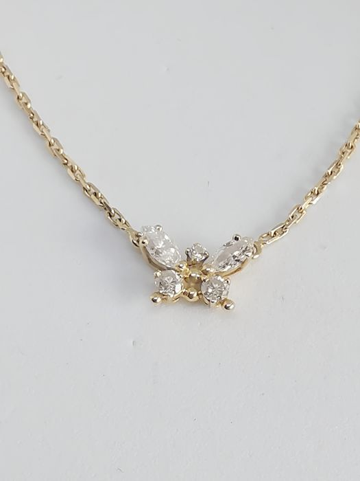 Fred - 18 kt. Yellow gold - Necklace with pendant - 0.58 ct Diamond