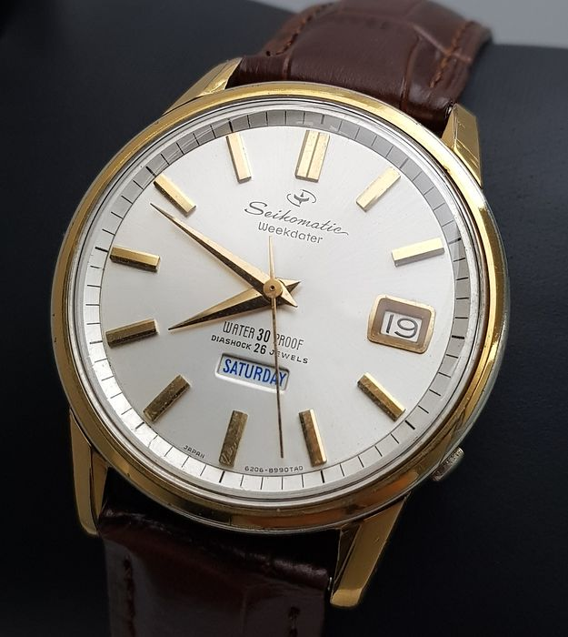 Seiko - 'NO RESERVE PRICE' Seikomatic Weekdater EGP Automatic Vintage Men - 6206-8980 - Men - 1960-1969