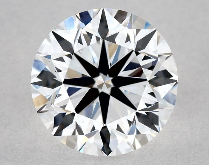 Diamond - 1.00 ct - Brilliant, Round - D (colourless), Free Shipping - IF (flawless), LC (loupe clean)