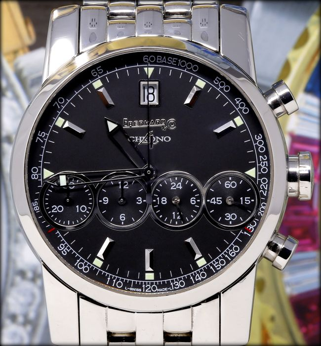 Eberhard & Co. - Chrono 4  Top Condition Ref.31041 - Heren - 2000-2010