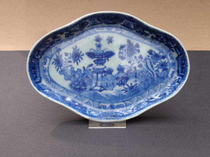 Pattipan Underdish (1) - Blue and white - Porcelain - Bird - China - 19th century