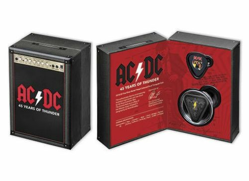 Australië - 5 Dollar 2018 AC/DC 45 Years of Thunder - Nickel Plated  - Zilver