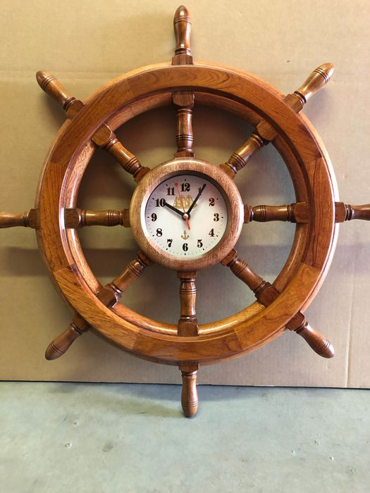 Yacht Model Wheel Bar Full Wood Watch - Wood