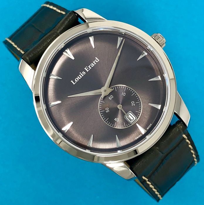 Louis Erard - Heritage Collection Small Seconds Grey Dial and Strap Swiss Made  - 16930AA03.BEP103 - Heren - Brand New