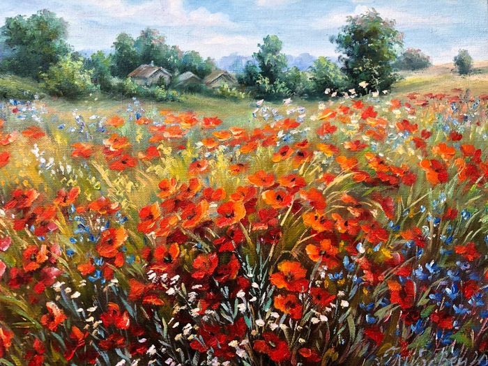 Glybovets Olena (1960-) - Poppies