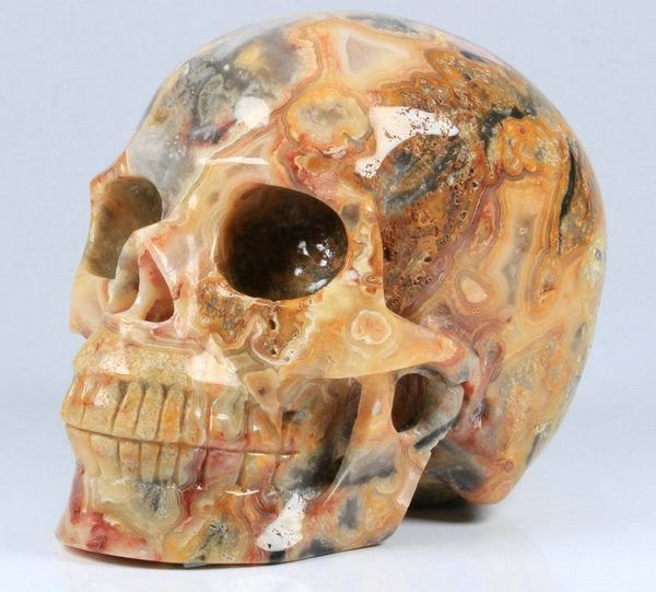 Crystal Skull Agate, carved and polished - 128×100×82 mm - 1255 g