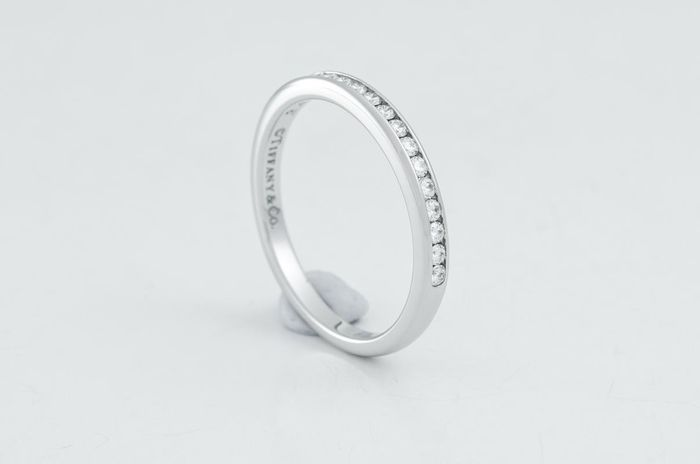 Tiffany Diamond Wedding Band Platino - Banda - 0.24 ct
