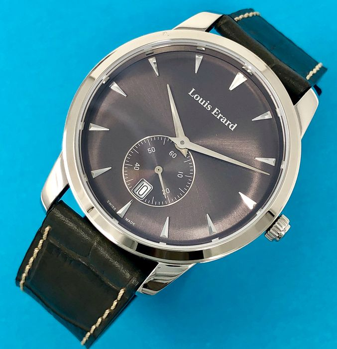"""Louis Erard - Heritage Collection Watch Small Seconds Grey Dial and Strap - 16930AA03.BEP103 """"NO RESERVE PRICE"""" - Men - Brand New"""