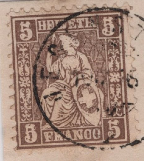 "Switzerland 1862 - ""Sitting Helvetia"" with plate error - double embossing, one of which is inverted; certificate - Zumstein/SBK Nr. 30.DP1"