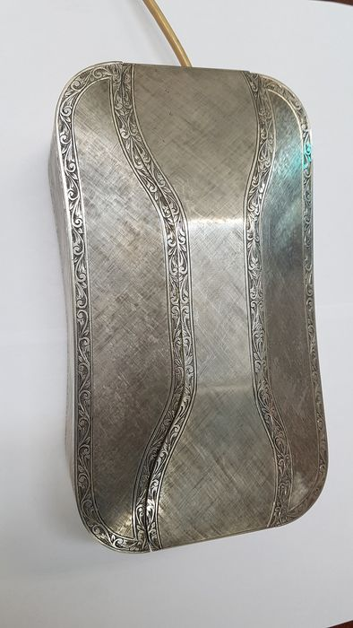 Telephone, 70s silver-coated phone - silver
