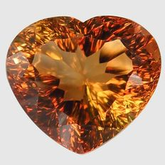 Orangey Brown Topas - 11.88 ct