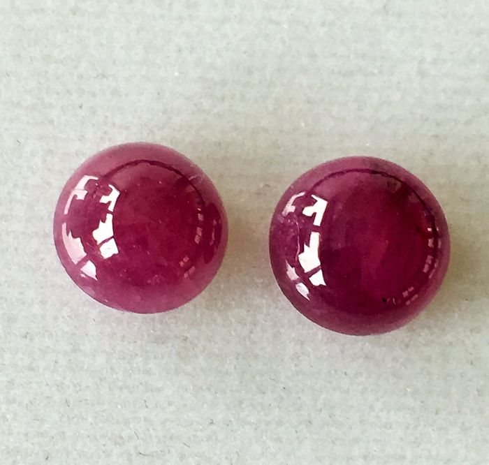 2 pcs Red Ruby - 6.00 ct