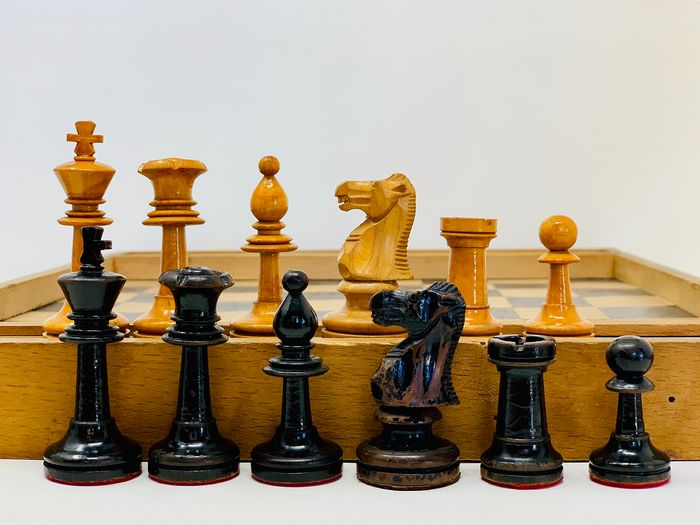 Old Chess Style Jaques Staunton - Fruit wood