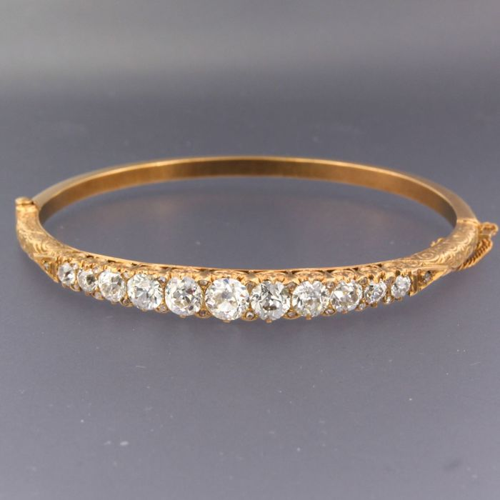 14 kt. Pink gold - Bracelet - 5.50 ct Diamond