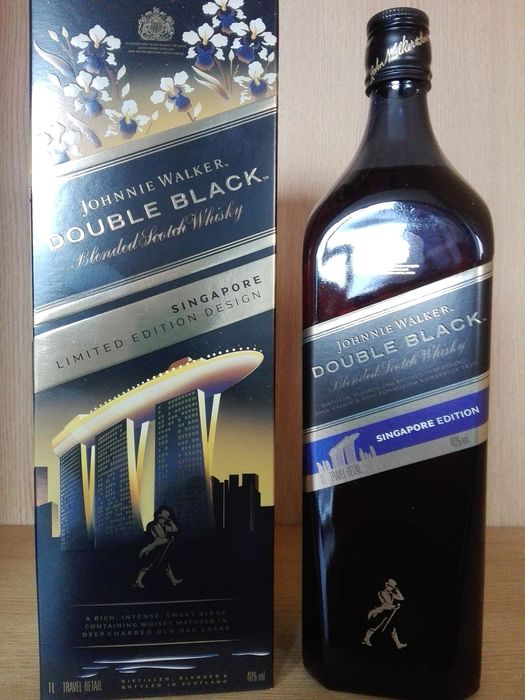Johnnie Walker  Double Black Singapore Limited Edition - 1,0 litros