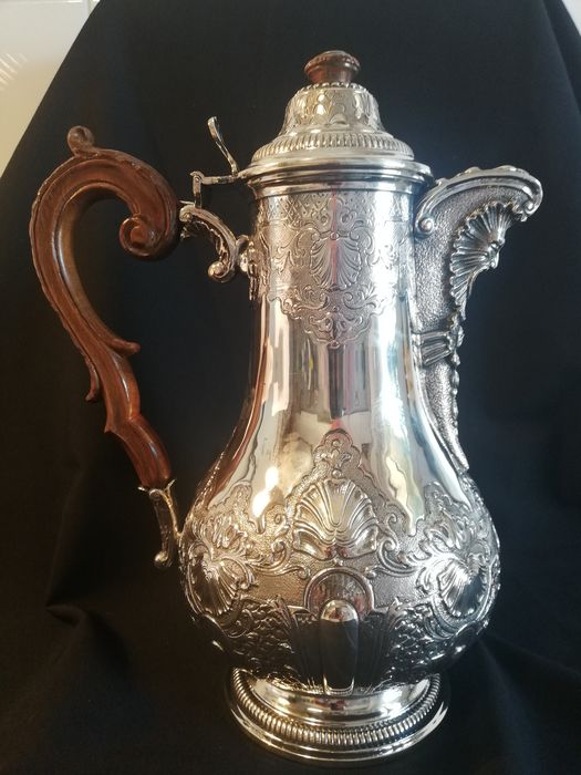 Coffee pot (1) - .800 silver - Italy - Late 19th century