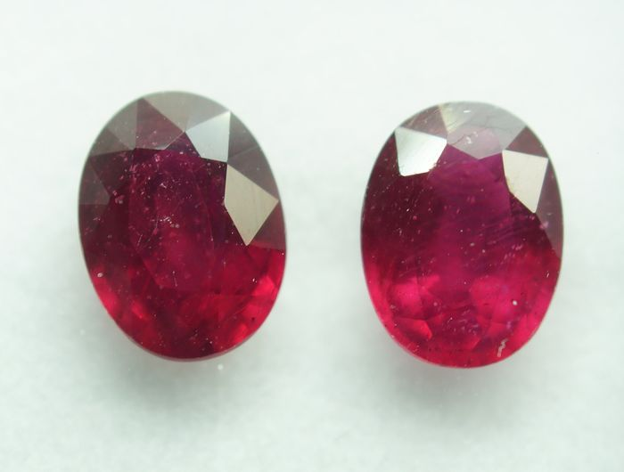 2 pcs Red Ruby - 3.52 ct