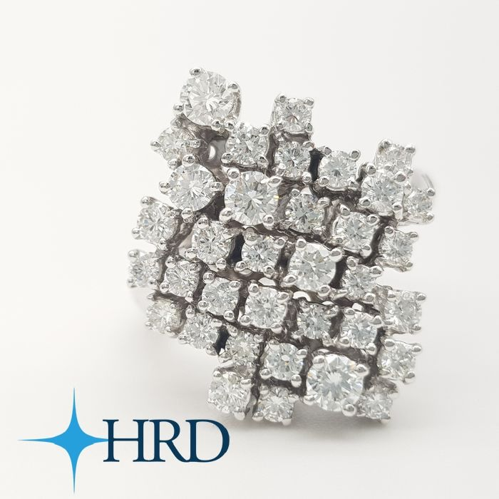 Damiani - 18 kt. White gold - Ring - 1.95 ct Diamond