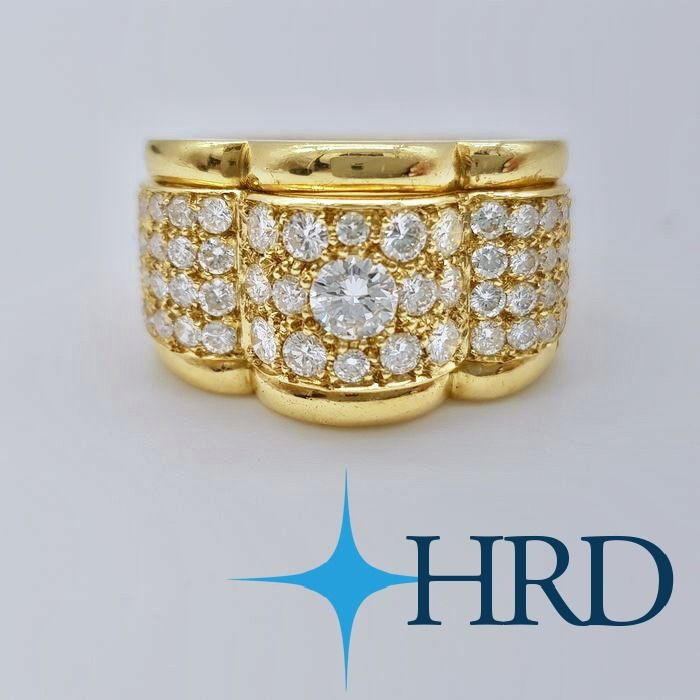 no reserve price - 18 kt Gelbgold - Ring - 0.30 ct Diamant - Diamanten