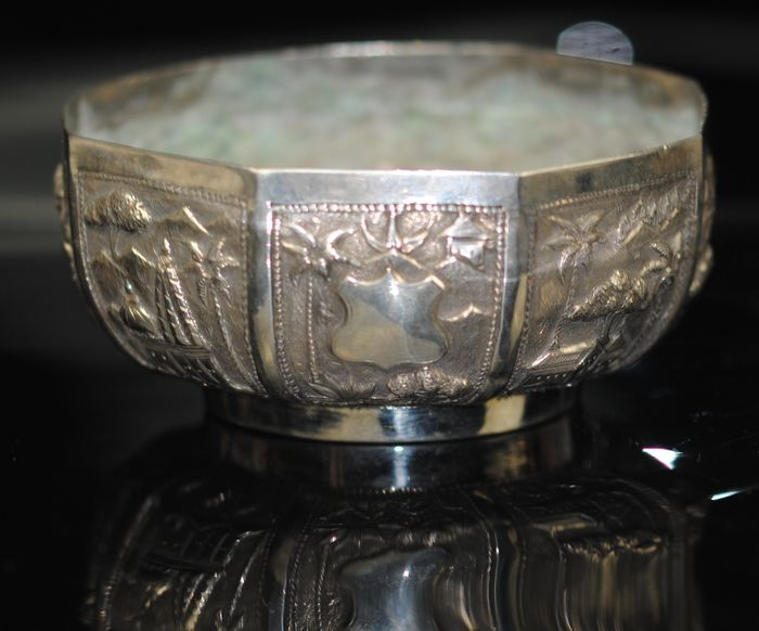Oriental Bowl - Silver - India - Late 19th century