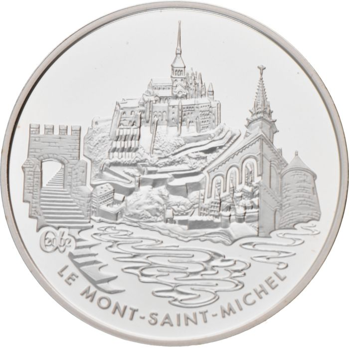 France - 1,50 Euro 2002 'Mont Saint-Michel' - Silver