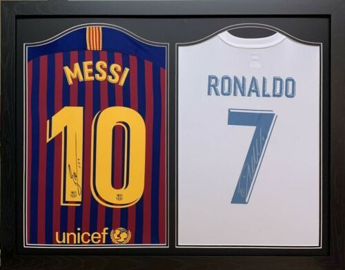 best sneakers a2d58 057f5 FC Barcelona - Spanish Football League - Messi and Ronaldo - 2018 - Jersey  - Catawiki