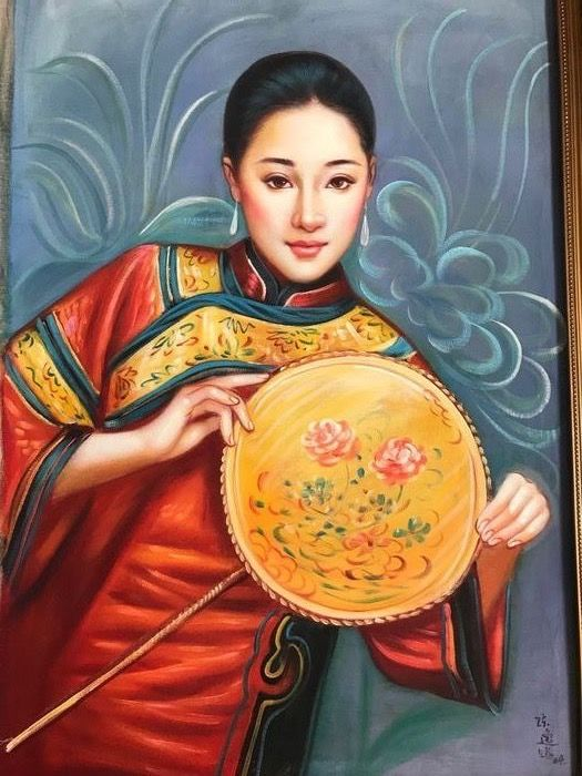 Oil painting (1) - Paper - China - 21st century