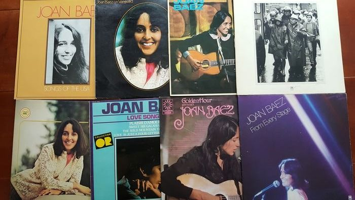 Joan Baez - 6 different albums and 2 double albums - Diverse titels - 2xLP Album (dubbel album), LP's - 1965/1979