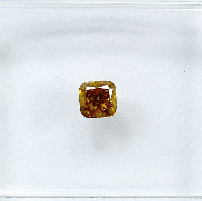 Diamant - 0.20 ct - Kissen - Natural Fancy Brownish Yellow - Si2 - NO RESERVE PRICE