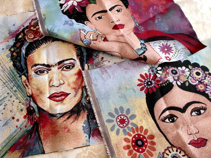 Trois tapisseries flashy Frida Kahlo gobelin (1) - Textile
