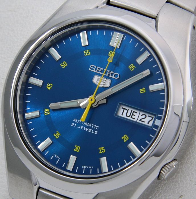 """Seiko - Unisex Automatic 21 jewels """"Sport Blue - Yellow Dial"""" - """"NO RESERVE PRICE"""" - Unisex - 2018"""