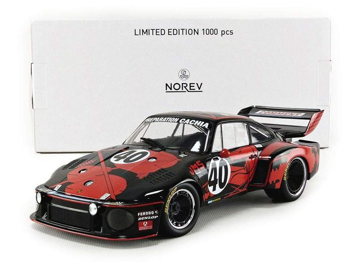Norev - 1:18 - Porsche 935 #40 3rd Place France 24h 1977 - Limited Edition or 1,000 pcs.