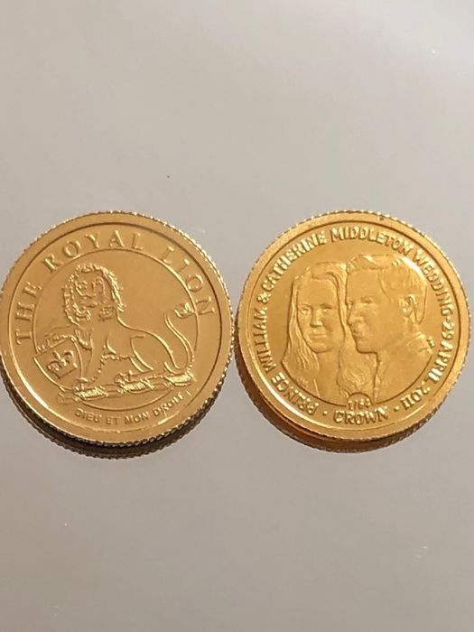 Isole Cook, Isole Falkland - Royal Lion/William-Kate* 1gr Dollar 2008 / 2011 - Oro