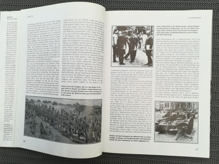Germany - history - Book, 3x books Normandy, D-Day, Berlin