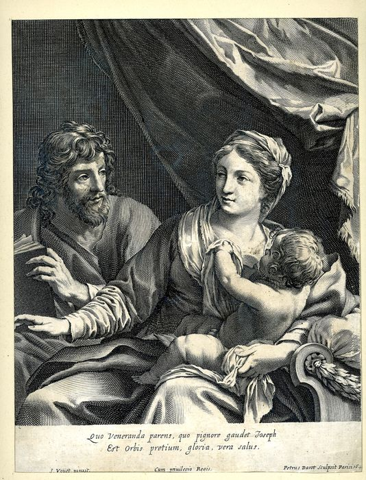 Pierre Daret, after Simon Vouet  - The Holy Family