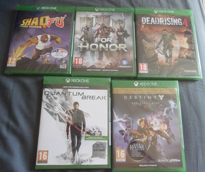 Microsoft XBOX ONE Games in  box sealed - Video games (5) - In original sealed box